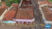 Telhado de Barracão Desaba em Santa Cruz das Palmeiras